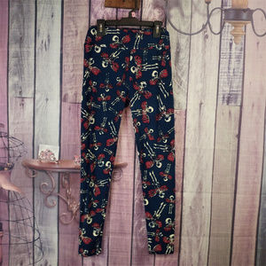 Lularoe Halloween Skeleton OS leggings AV42